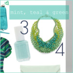 Sunday's Cravings – mint, teal & green.