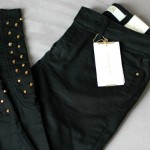 new in: studded pants.