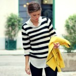 striped knit.