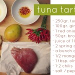 recipe: tuna tartar with mango