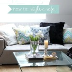 FOR THE HOME: how to style a sofa