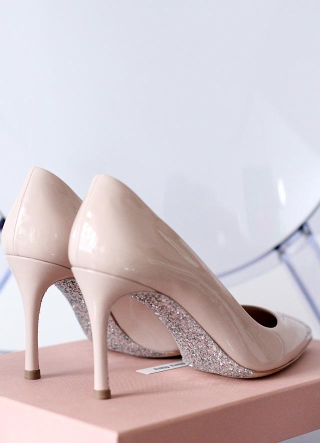 NEW IN: miu miu glitter heels - Bikinis &amp Passports