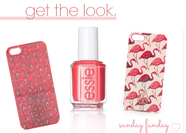 Essie sunday funday nail polish & tory burch iphone 5 cover