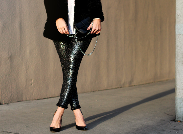 Outfit: Glitter Girl - sequin pants