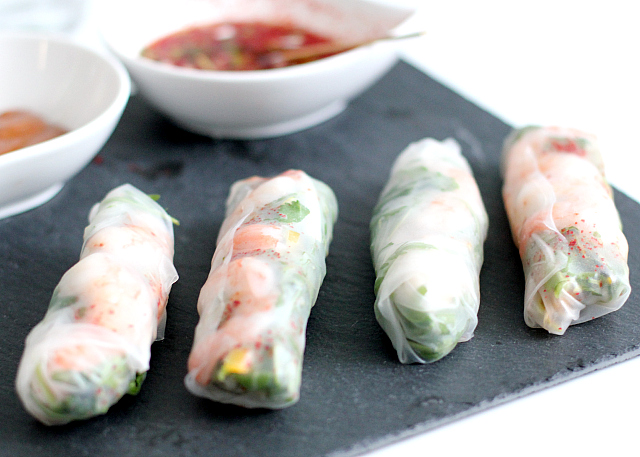 RECIPE: thai summer rolls + 2 dipping sauces