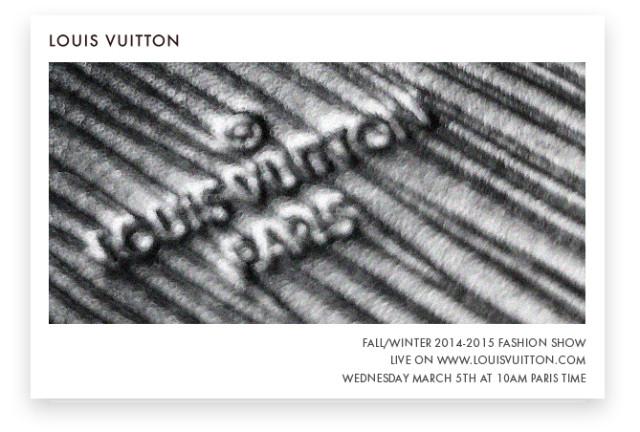 Louis Vuitton FW 2014/2015 Live Stream