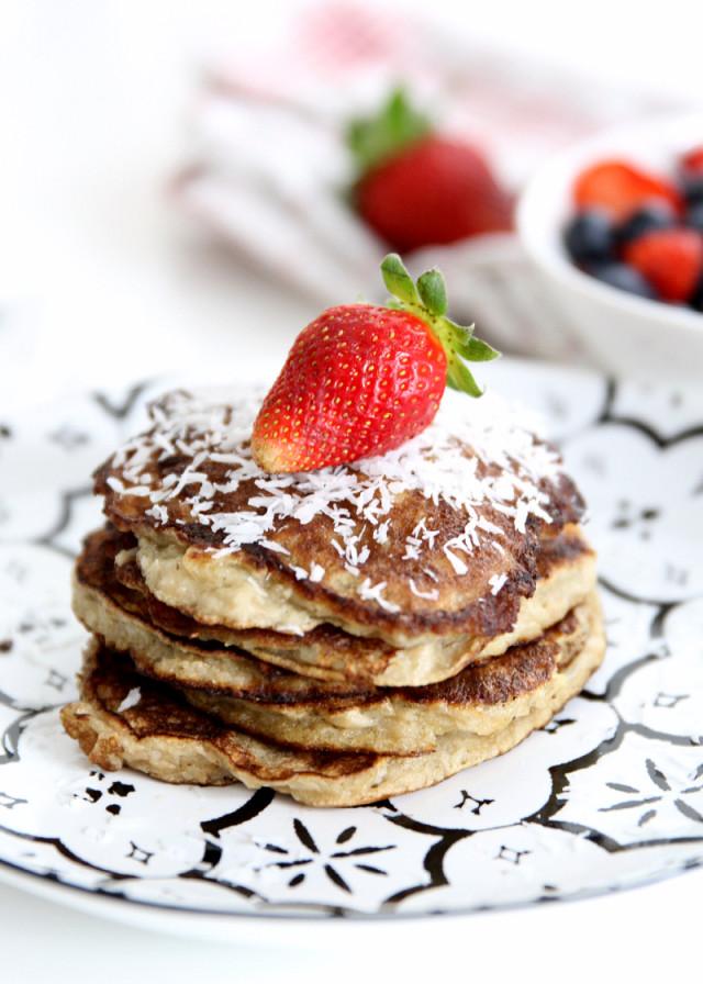 RECIPE: healthy banana pancakes