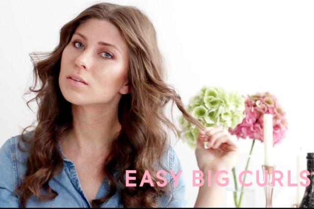 VIDEO: easy big curls – tutorial