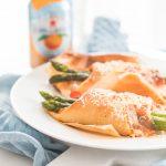 RECIPE: homemade pizza pockets with asparagus