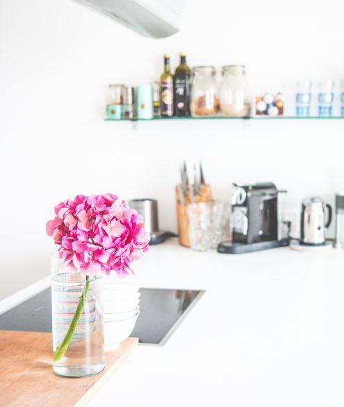 HOME: a white kitchen affair   Bikinis & Passports