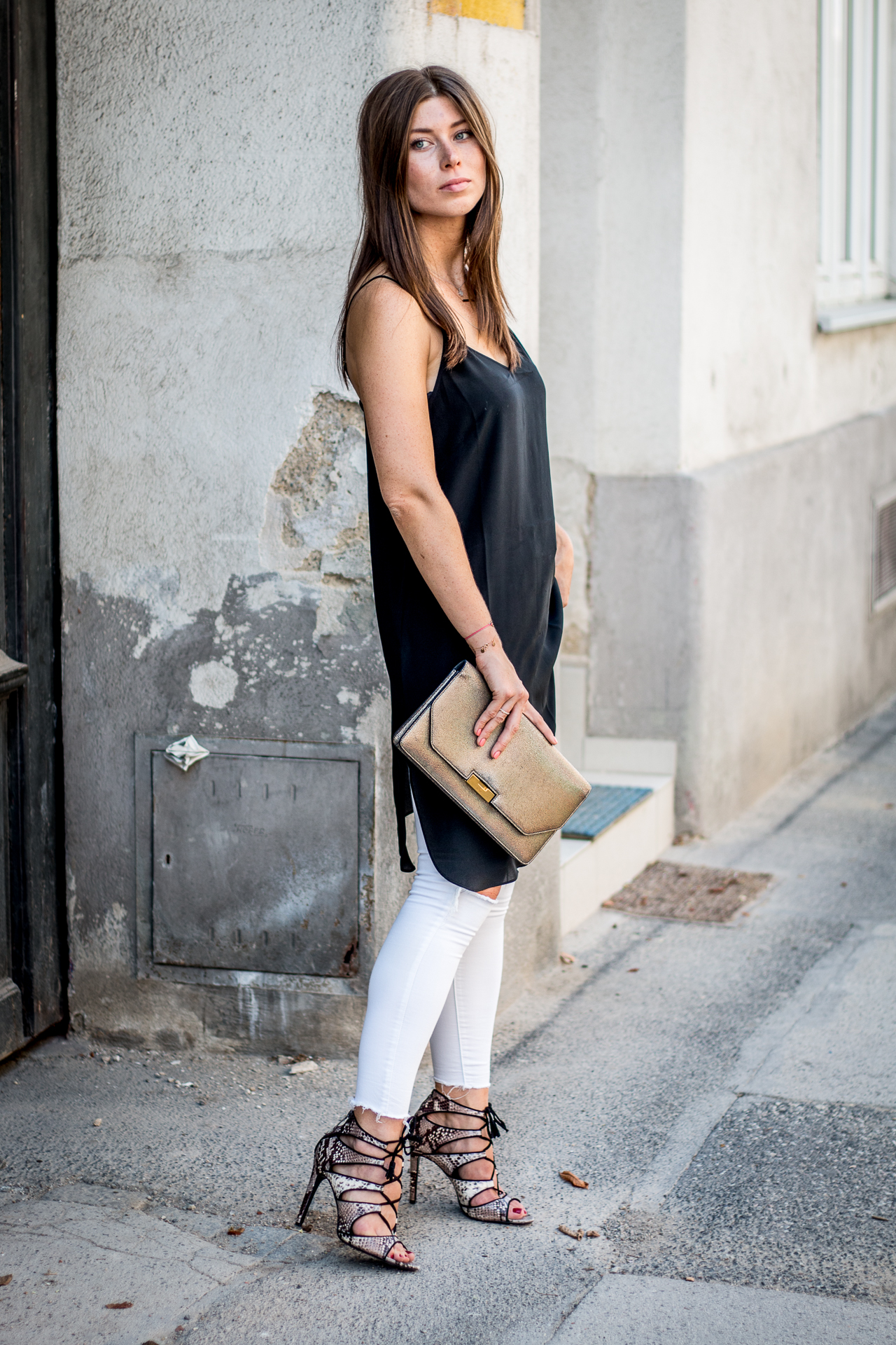 OUTFIT: silk slip dress