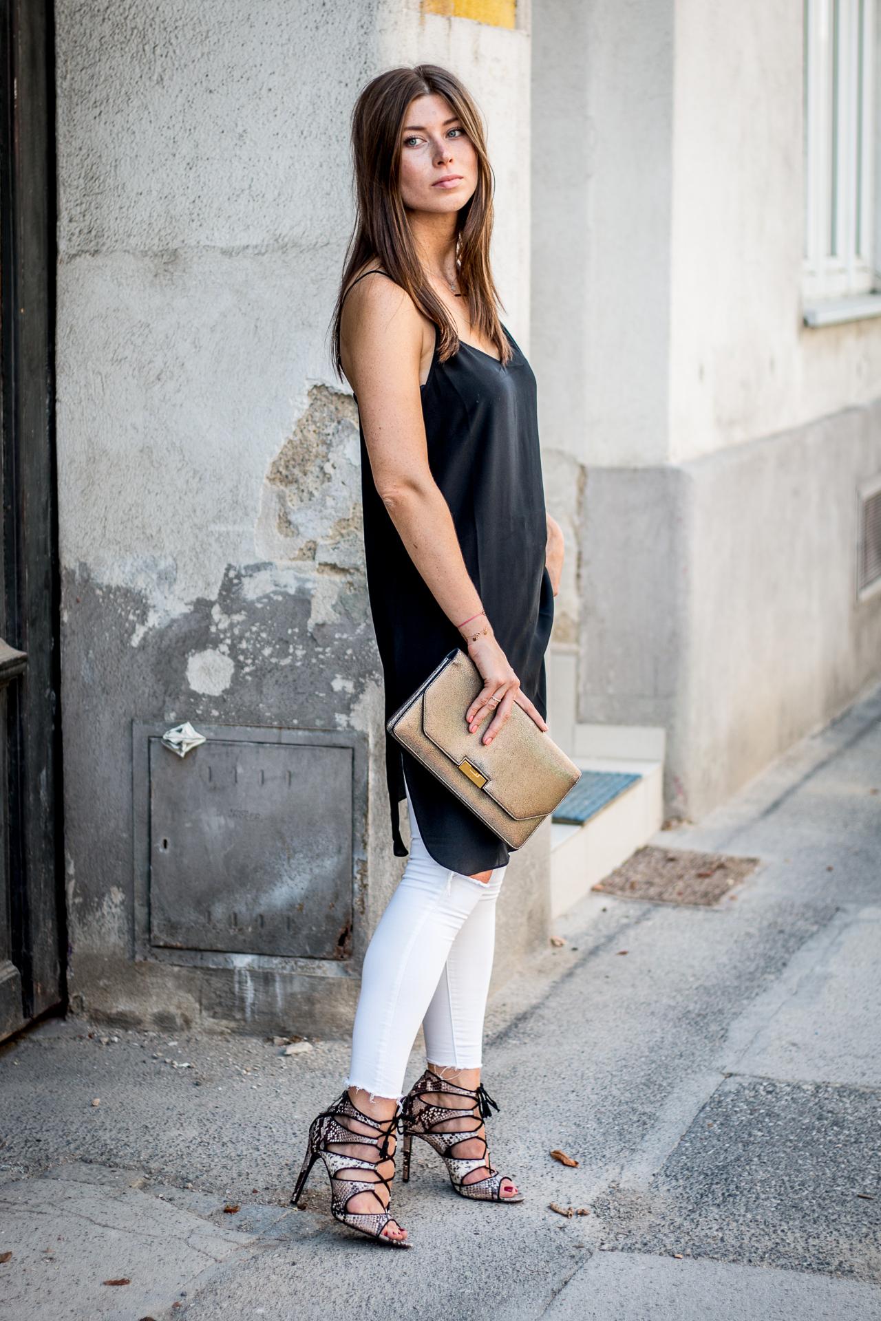 OUTFIT: silk slip dress
