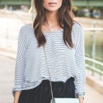 OUTFIT: a flared skirt + stripes