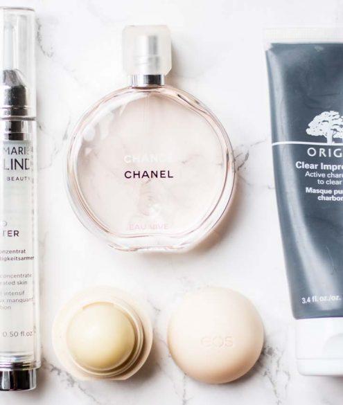 5 Beauty Products Worth Re-Buying: eos lip balm vanilla bean   Bikinis & Passports