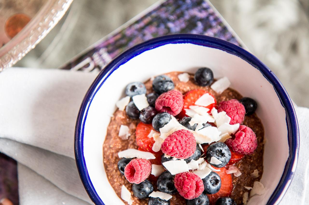 healthy chocolate porridge