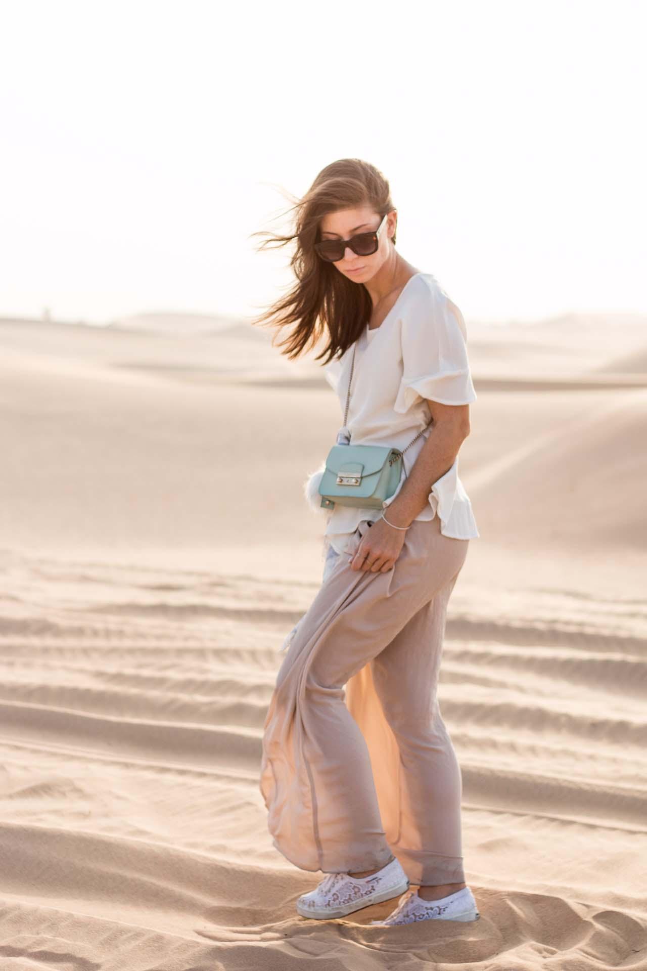 OUTFIT: sunset desert safari