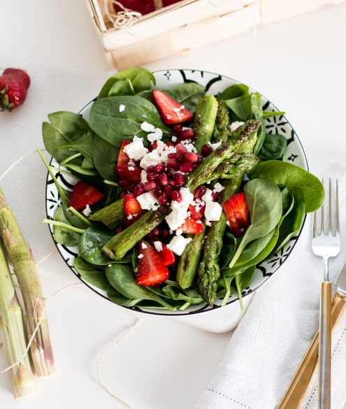 Asparagus & Strawberry Salad Recipe | Bikinis & Passports