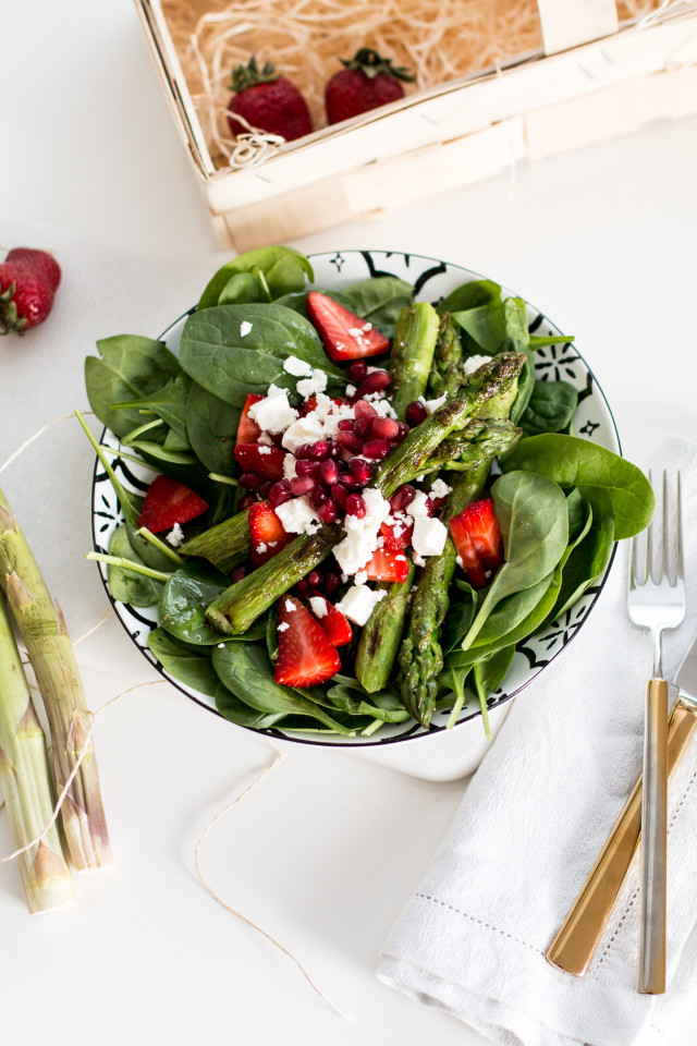 Asparagus & Strawberry Salad Recipe | Bikinis & Passports