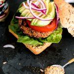 RECIPE: the vegan quinoa burger.