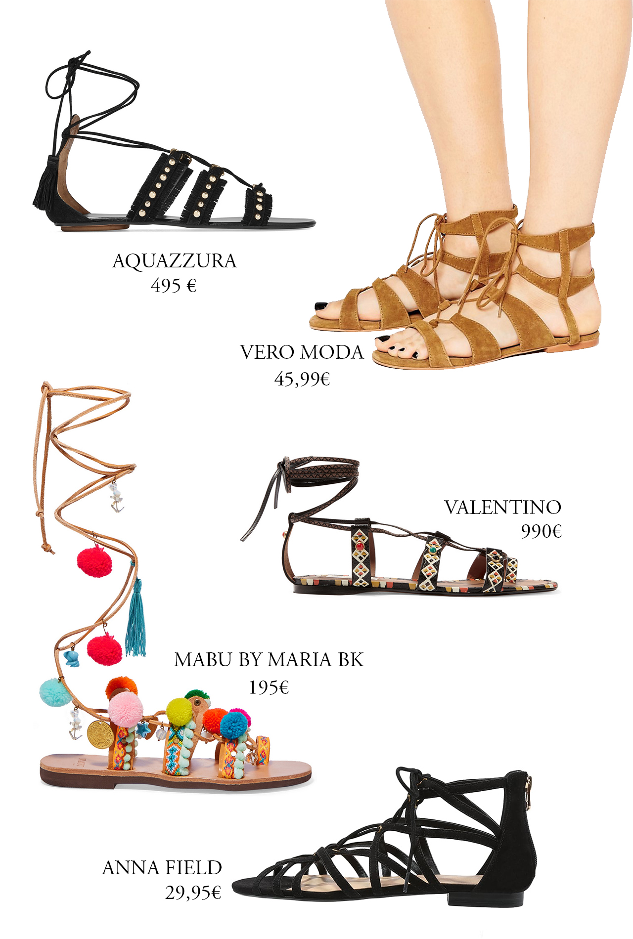 CRAVINGS: boho sandals for every budget.