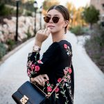 OUTFIT: florals on black