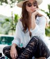 OUTFIT: poolside with pilyQ Malibu lace pants | Bikinis & Passports