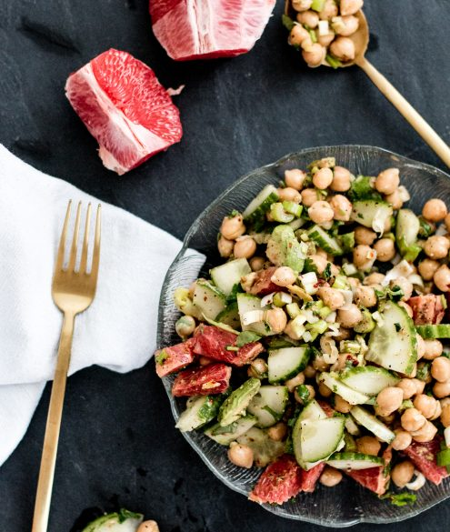 Recipe: Healthy Chickpea Salad with Grapefruit & Avocado   Bikinis & Passports