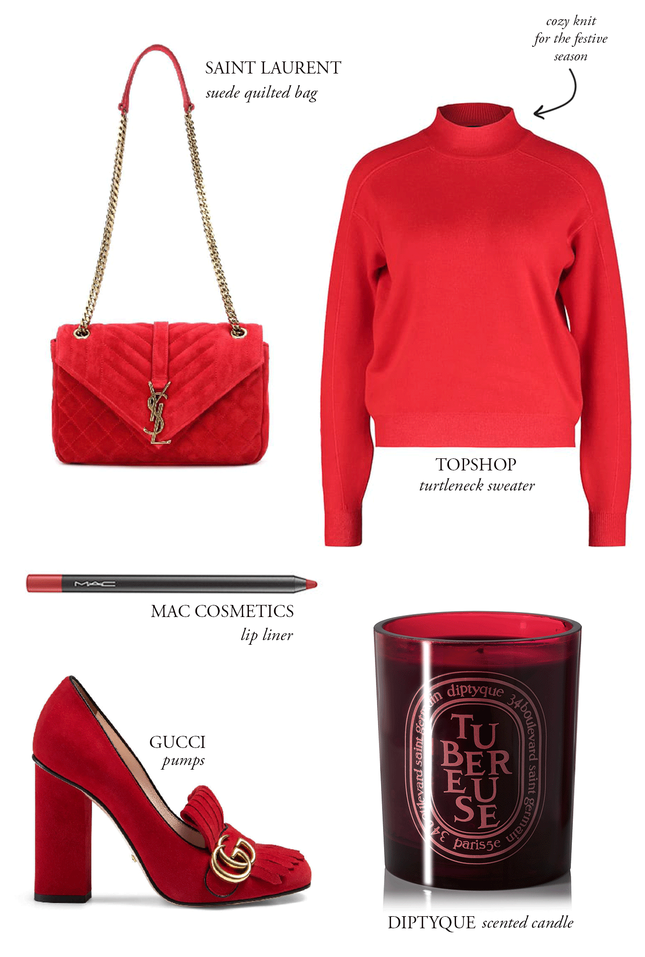 CRAVINGS: holiday red.