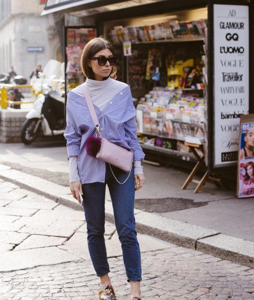 OUTFIT: Aigner Nica Bag in Milan for Fashion Week - Bikinis & Passports