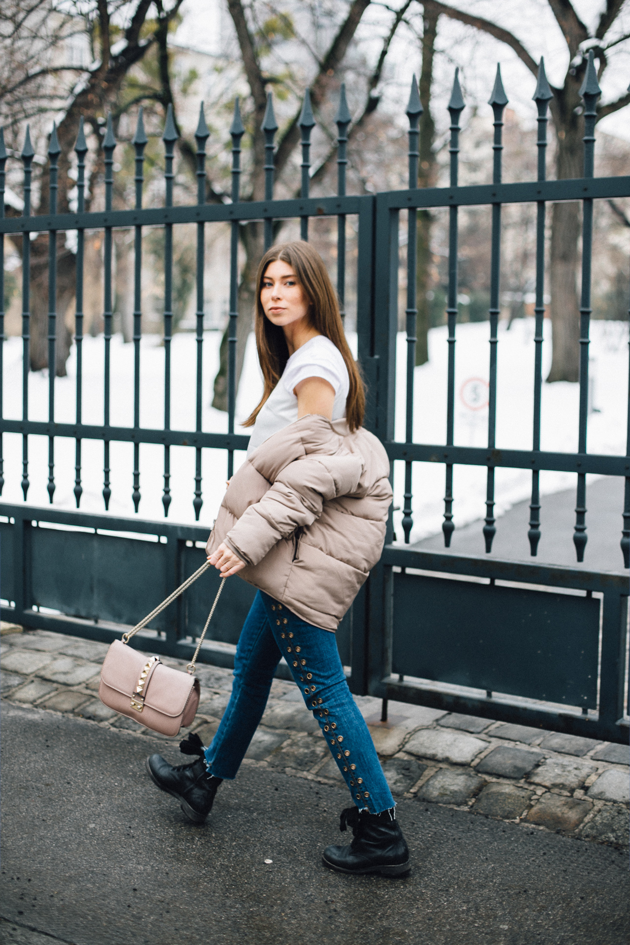 OUTFIT: the padded bomber.