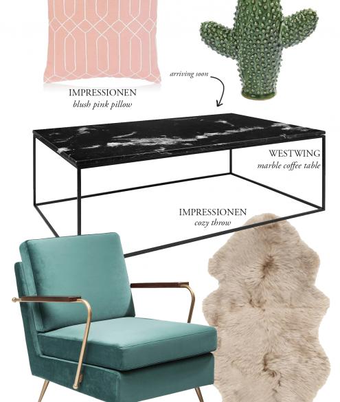 Black Marble Coffee Table Inspiration - Bikinis & Passports