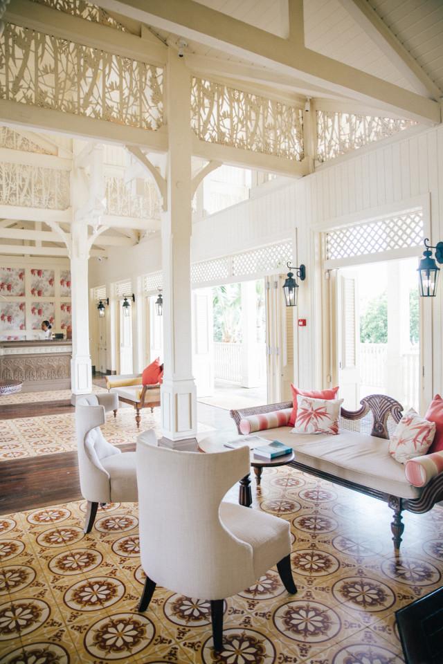 Lobby at Heritage Le Telfair | Bikinis & Passports