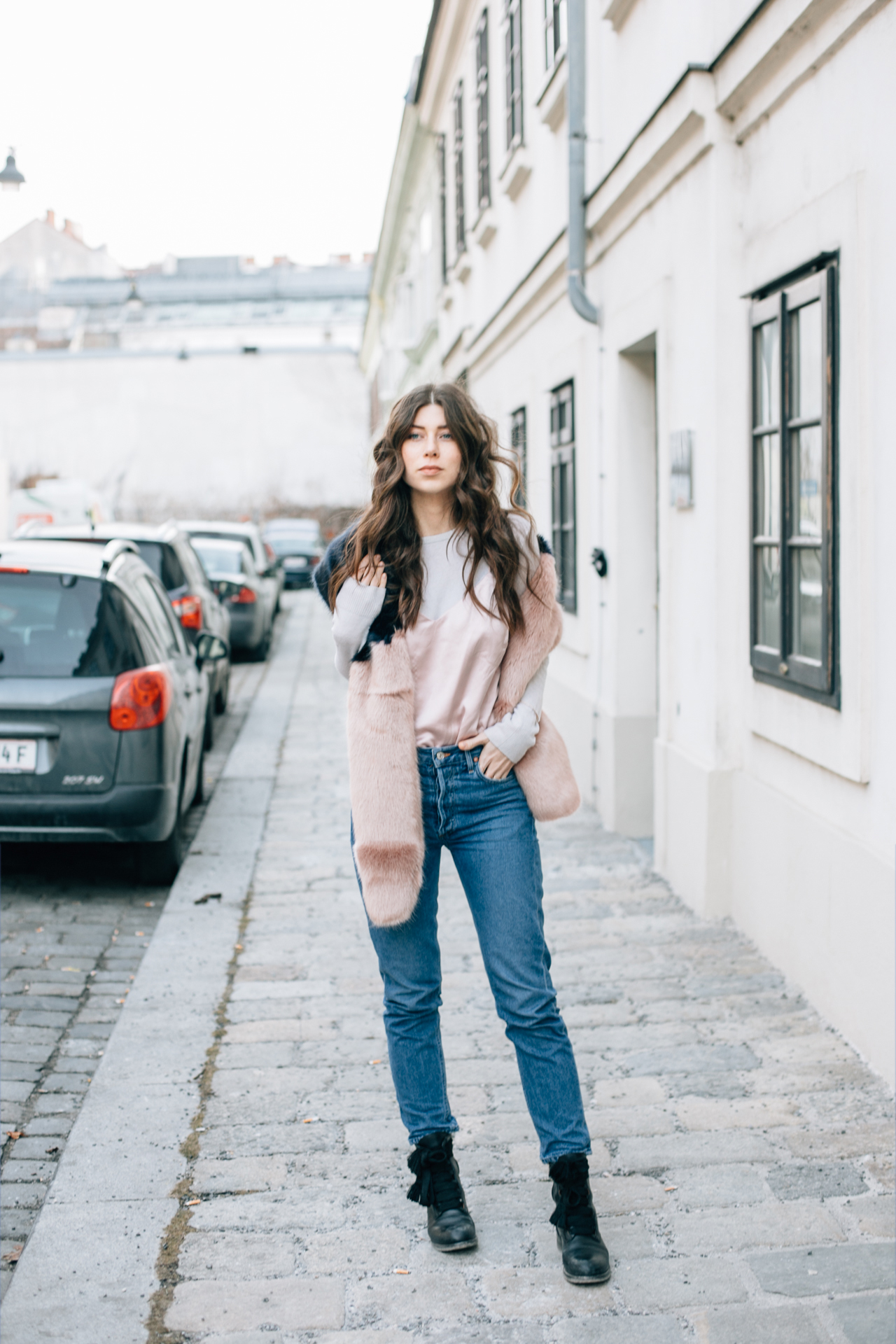 OUTFIT: blush pink layers.