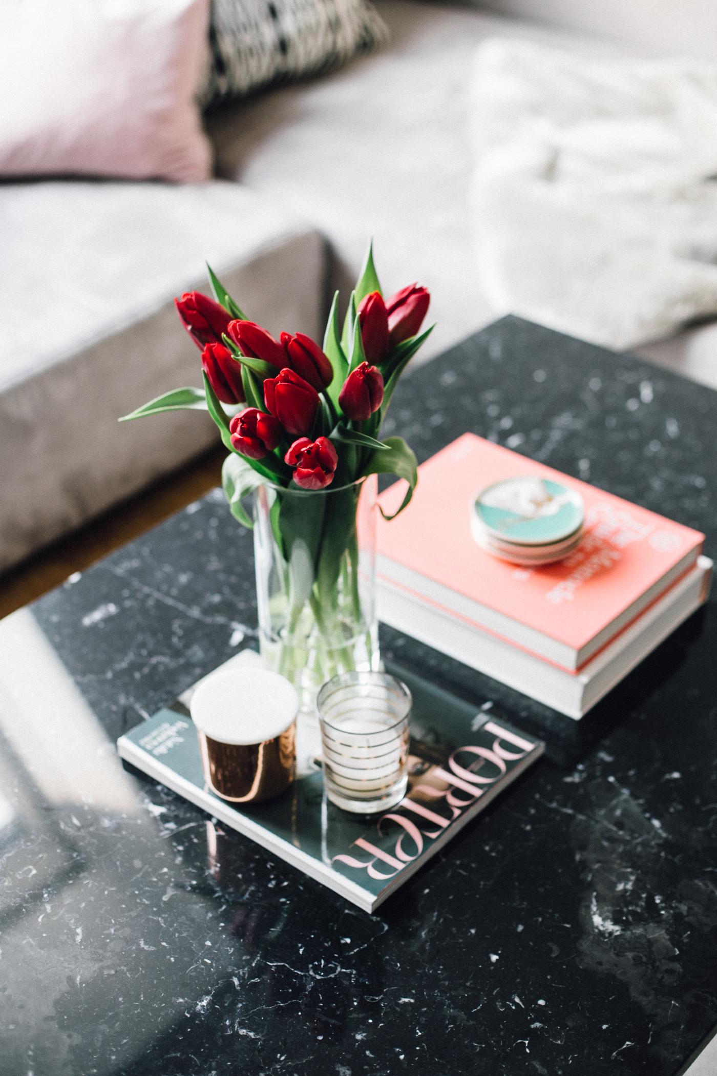Black Marble Coffee Table | Bikinis & Passports