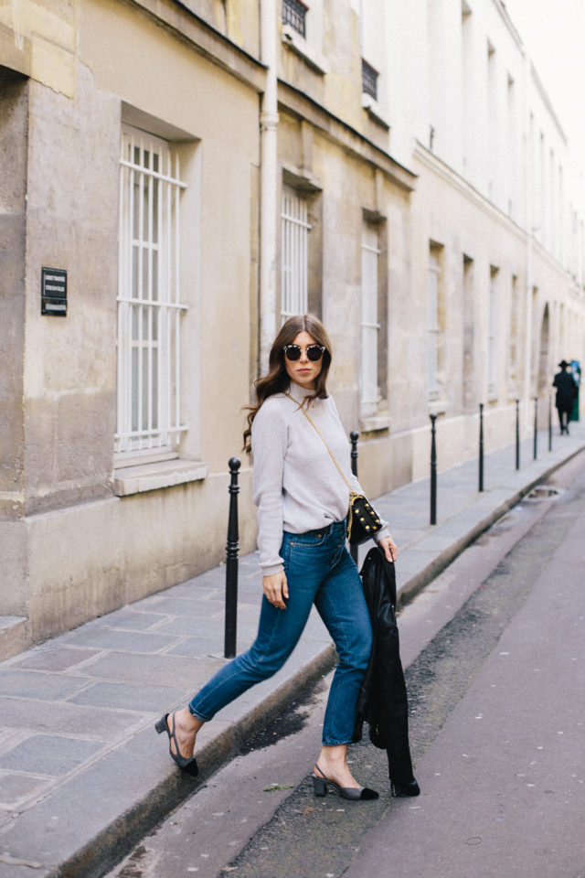 OUTFIT: Chanel slingback heels in Paris | Bikinis & Passports