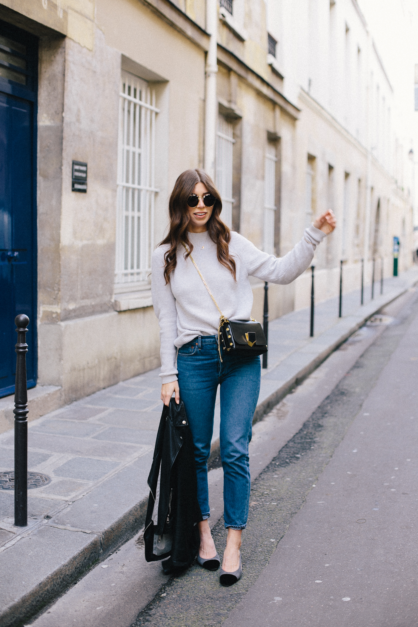 OUTFIT: Chanel Slingback, Jimmy Choo Petite Lockett, Mom Jeans | Bikinis & Passports