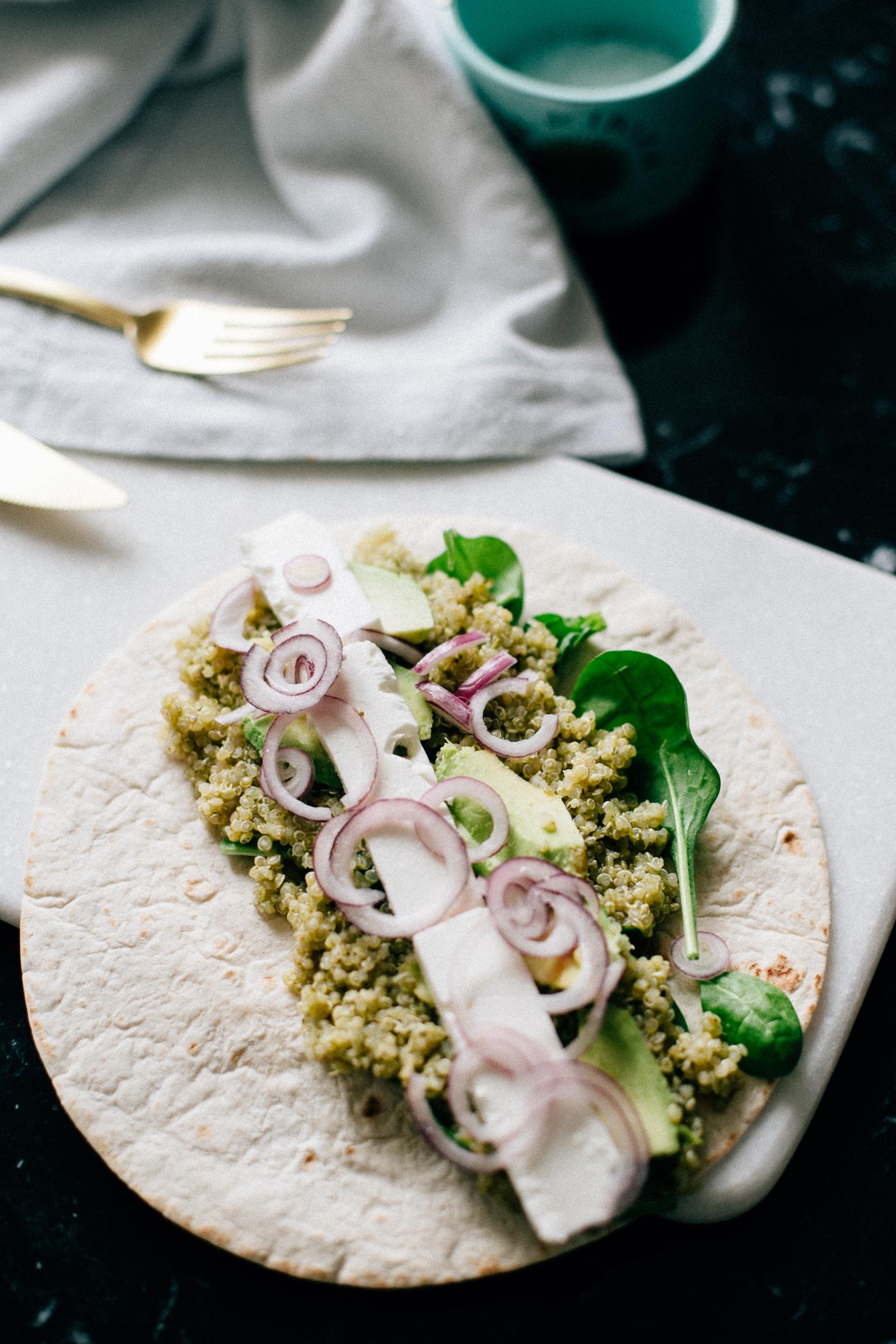 Green Quinoa Wrap Recipe - Bikinis & Passports
