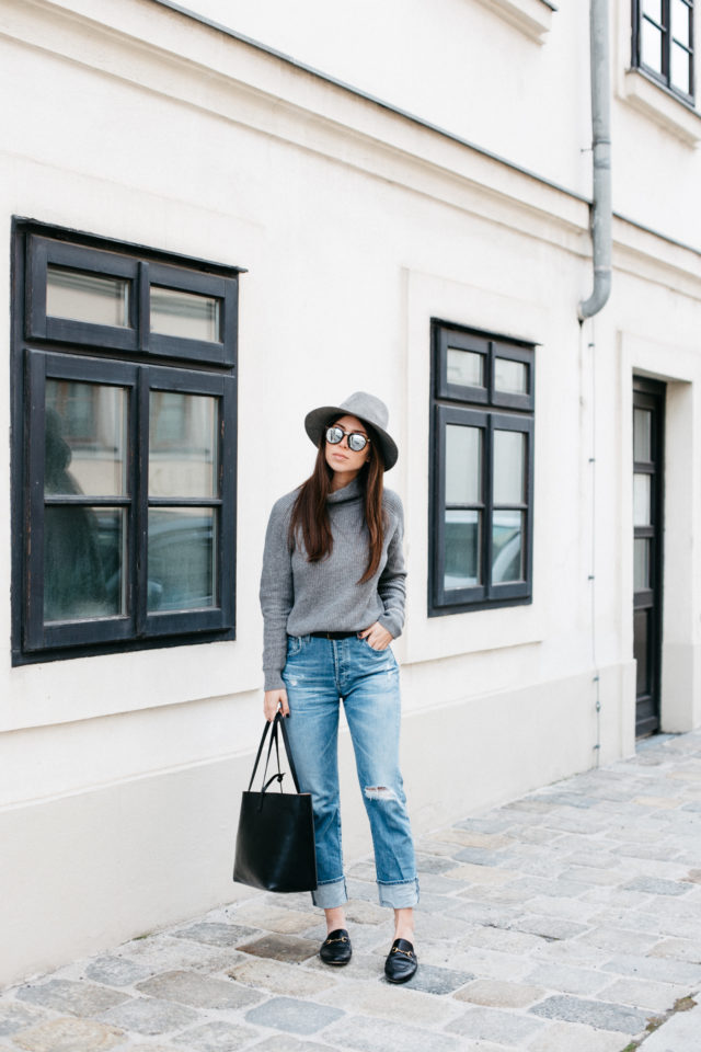 AG Jeans mom jeans + Gucci Slippers | Bikinis & Passports