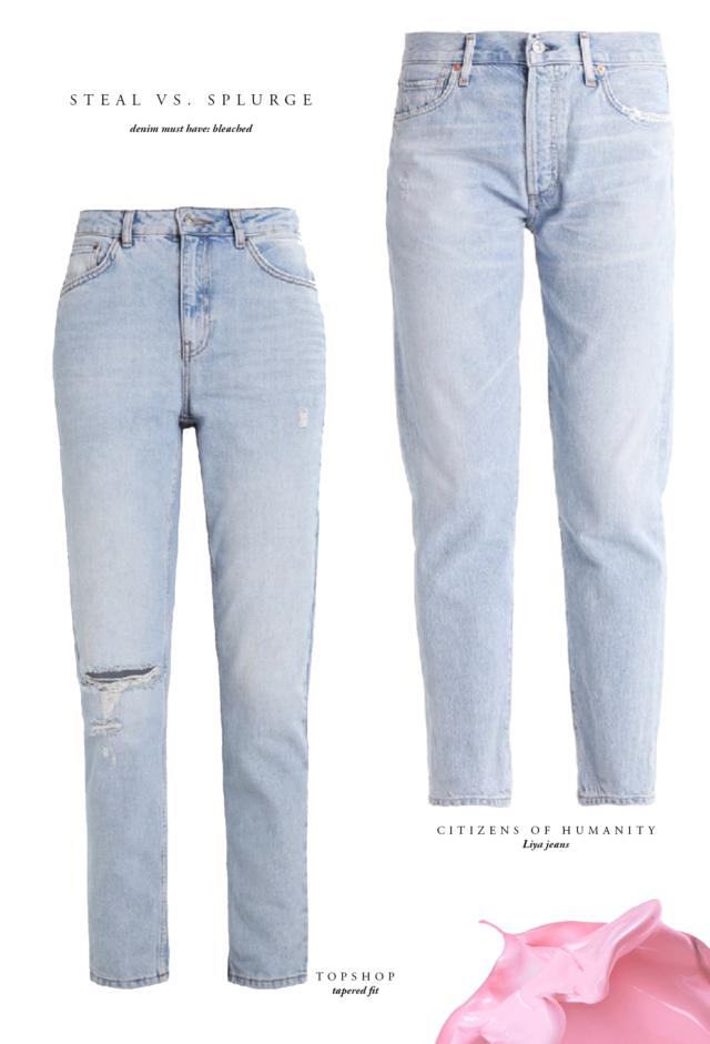 Tapered Bleached Denim - Mom Jeans | Bikinis & Passports