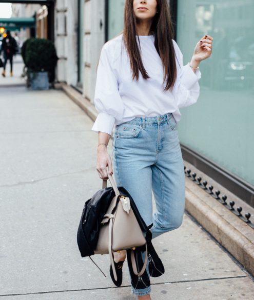 Topshop Moto Tapered Bleached Mom Jeans | Bikinis & Passports
