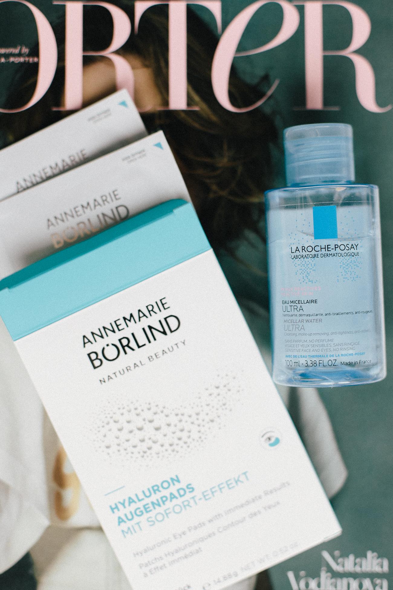 In-Flight Beauty Essentials: Annemarie Börlind Augenpads + Micellar Water | Bikinis & Passports