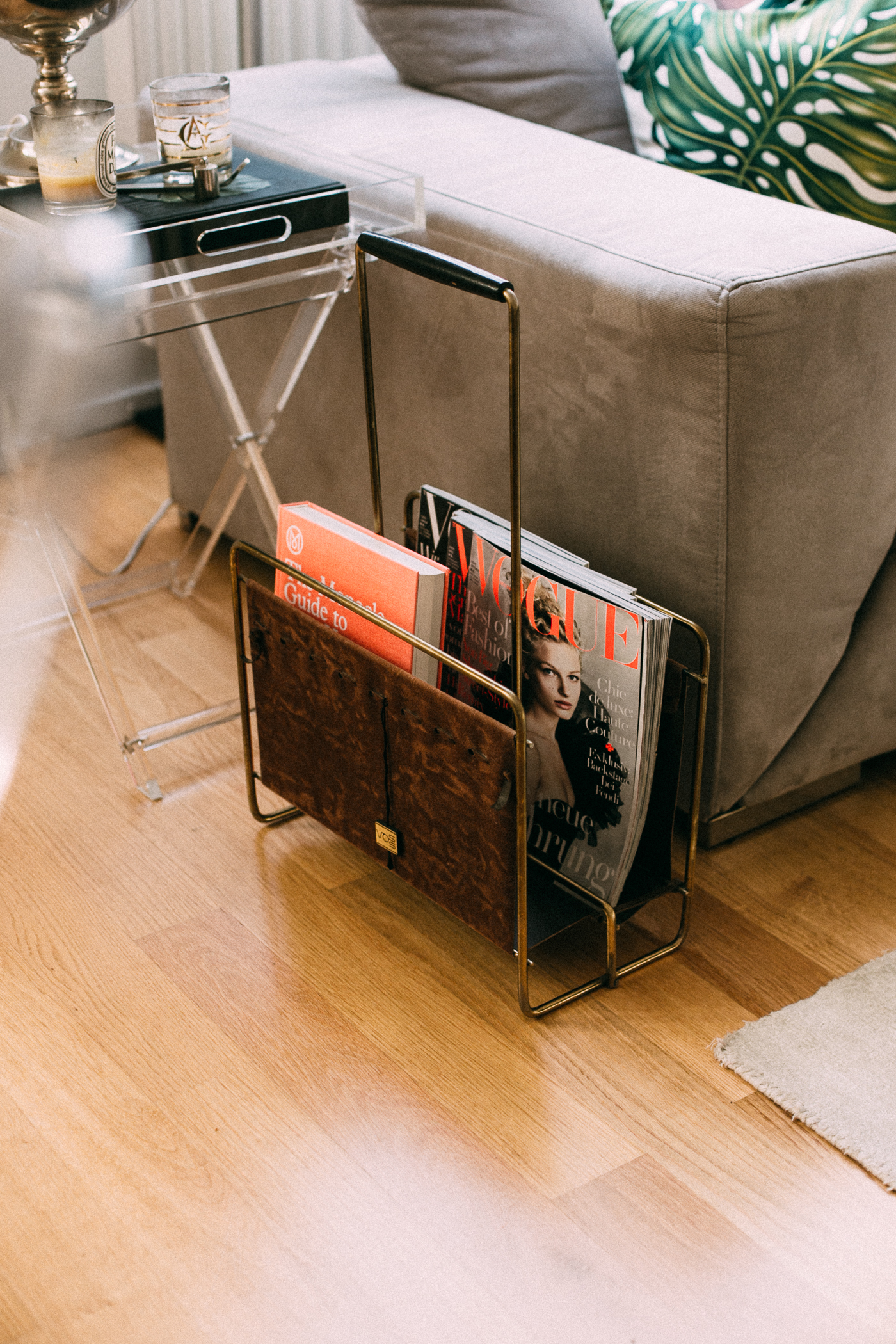 FOR THE HOME: Etsy Vintage Magazine Rack | Bikinis & Passports