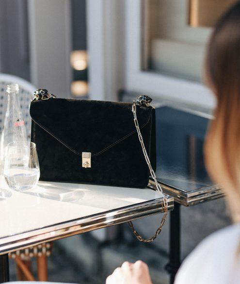 Valentino Panther Embellished Suede Bag | Bikinis & Passports