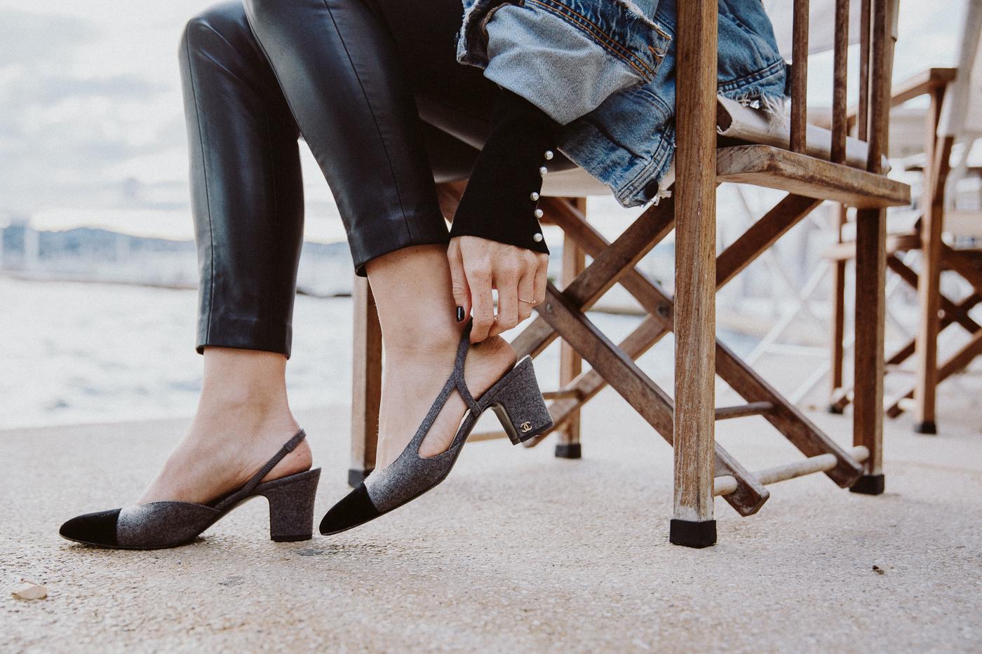 Chanel Slingback Heels | Bikinis & Passports