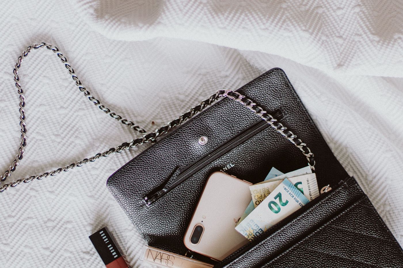 Chanel Wallet on Chain Review: What's in my bag | Bikinis & Passports