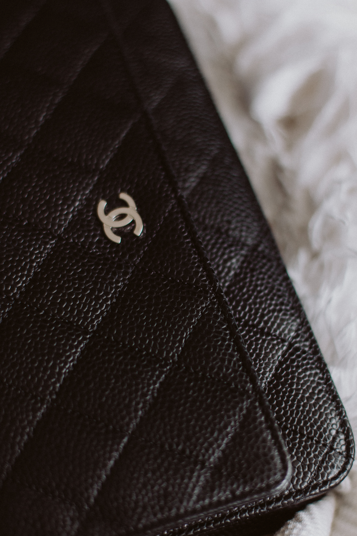 Chanel Wallet on Chain Review: Classic Black Caviar Leather + Silver Hardware | Bikinis & Passports