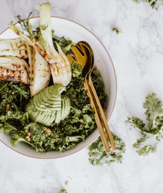 Winter Kale Salad with Grilled Fennel Recipe | Bikinis & Passports