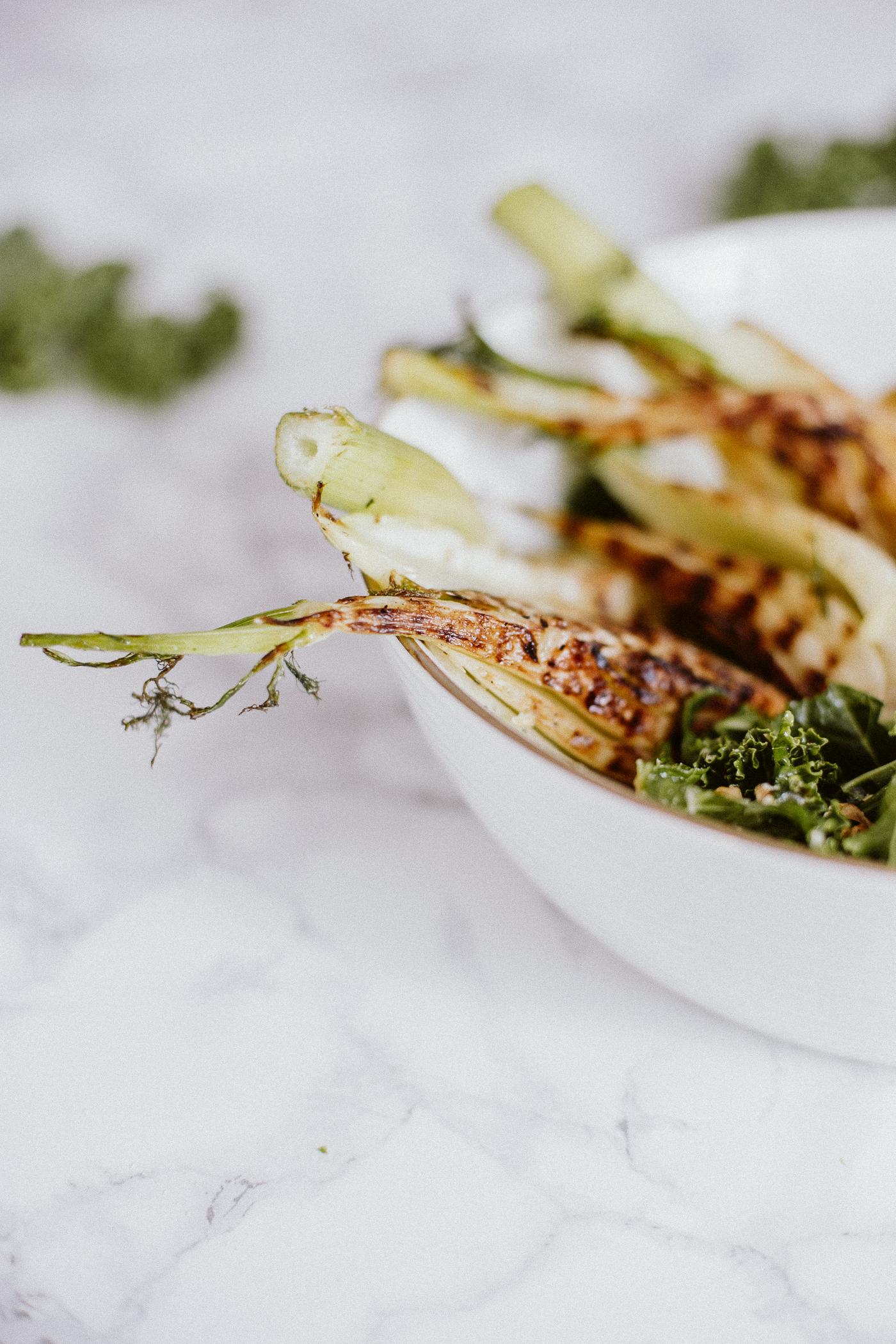 Winter Kale Salad with Grilled Fennel Recipe   Bikinis & Passports