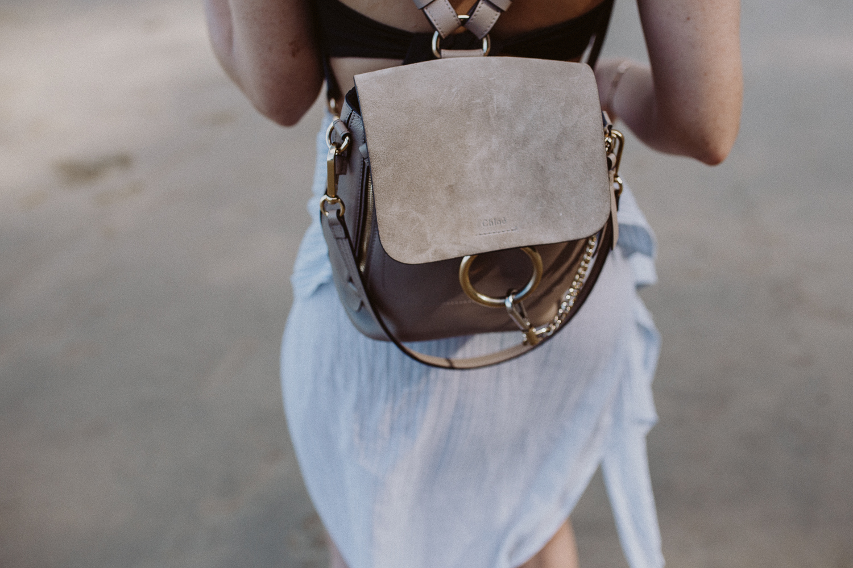 497c8e9ae Chloé Faye backpack small, motty gray | Bikinis & Passports