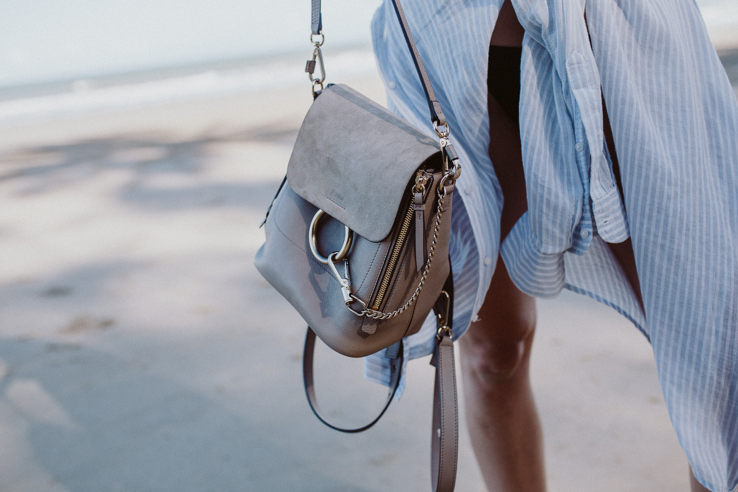 Chloé Faye backpack small, motty gray | Bikinis & Passports